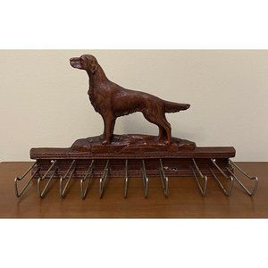 Chocolate Lab Tie Rack+Belt+Scarf Hanger Holder Wa